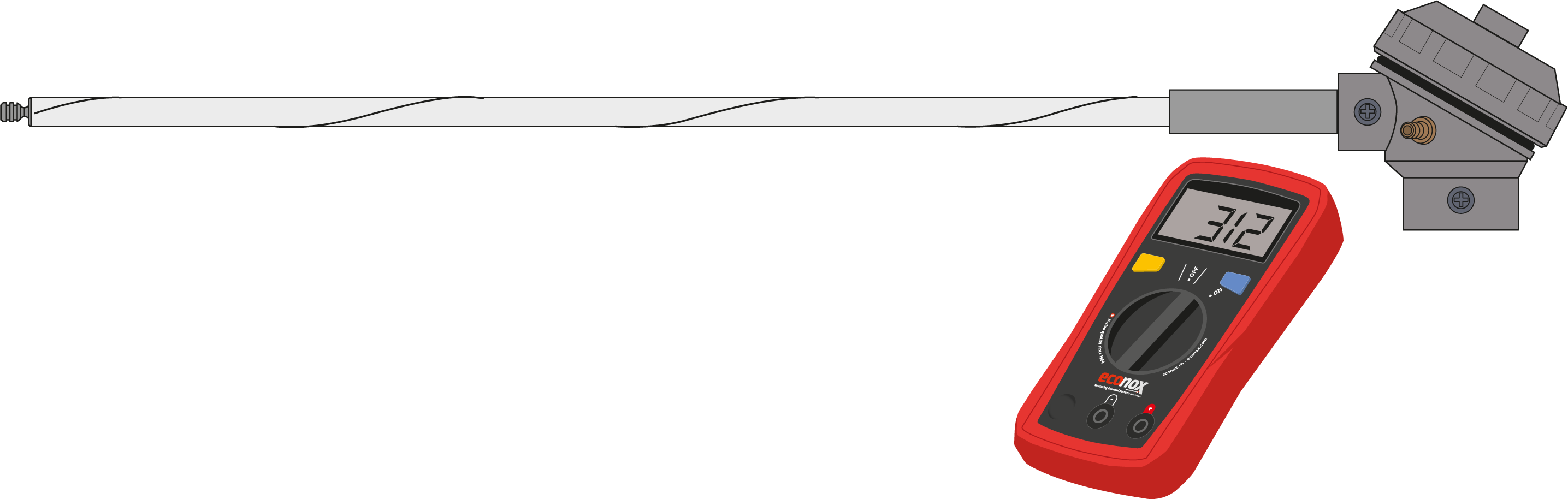 Sauerstoffsonde CarboProbe CP für Töpfer